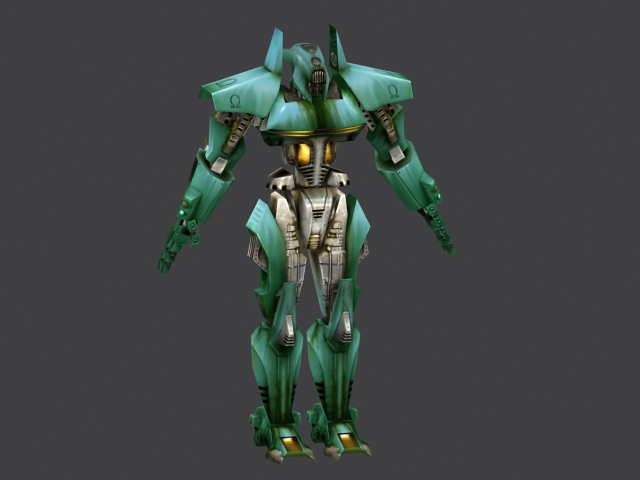 Green Robot 3d Model 3ds Max Files Free Download