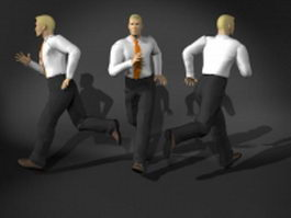 Man in running pose 3d model