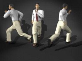 Man faster running pose 3d model