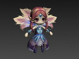 Forest fairy character 3d model