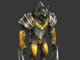 Werewolf warrior rigged 3d model