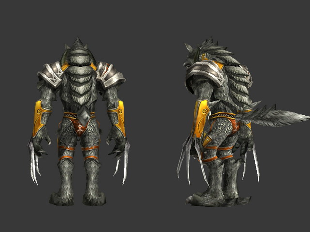 werewolf warrior rigged 3d model 3ds max object files free download