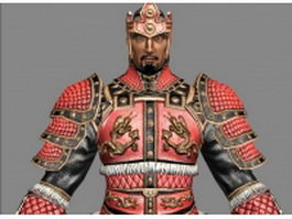 Ancient samurai warrior 3d model