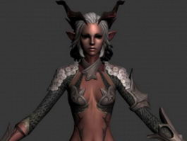 Elf girl warrior 3d model