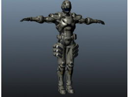 Mechanical warrior 3d model