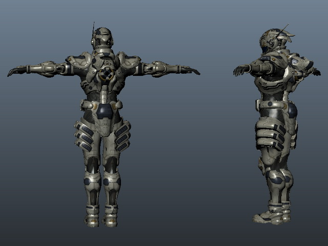 Mechanical Warrior 3d Model Maya Object Files Free