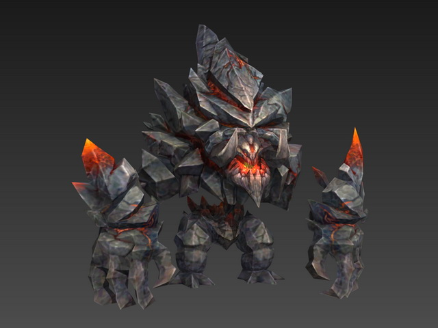 Stone monster 3d model 3ds max files free download for Monster 3d model