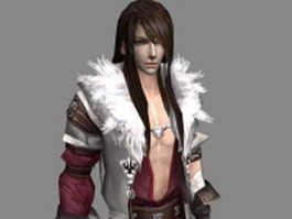 Fantasy handsome man 3d model