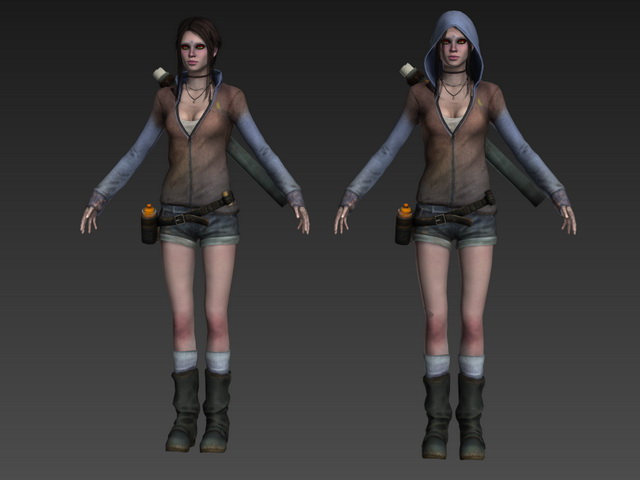 kat in devil may cry 3d model 3ds max object files free