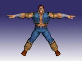 T. Hawk in Super Street Fighter 3d model