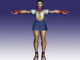 Sakura Kasugano in Street Fighter 3d model