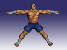 Sagat in Street Fighter 3d model