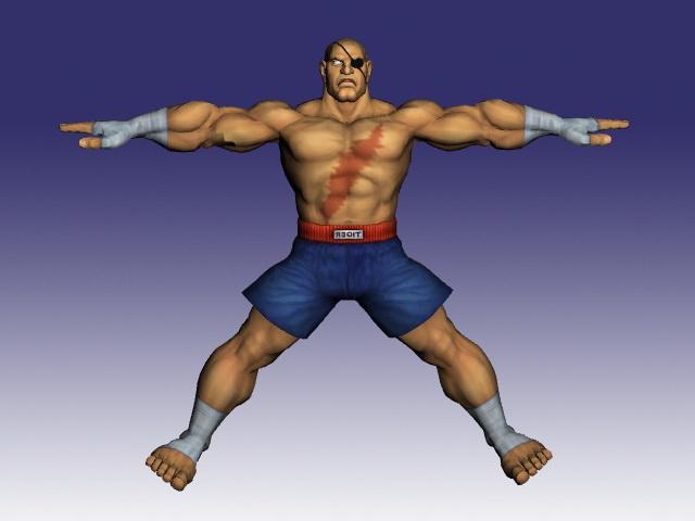 Sagat In Street Fighter 3d Model ObjectMilkShape 3D Files