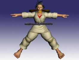 Makoto in Street Fighter 3d model