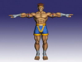 Adon Muay Thai warrior 3d model