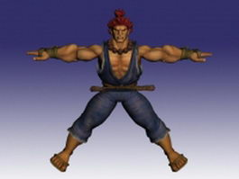 Akuma Street Fighter character 3d model