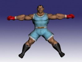 Balrog in Super Street Fighter 3d model