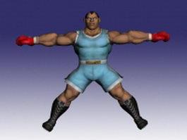 Balrog in Super Street Fighter 3d model
