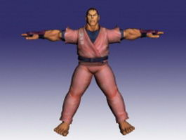 Dan in Street Fighter Alpha 3d model