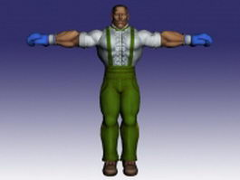 Dudley in Street Fighter 3d model