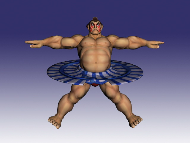E Honda In Super Street Fighter 3d Model Object Milkshape