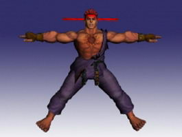 Evil Ryu in Street Fighter 3d model