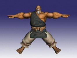 Gouken in Street Fighter 3d model