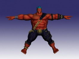 Hakan in Super Street Fighter 3d model