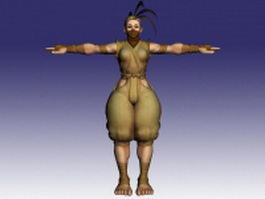 Ibuki in Street Fighter 3d model