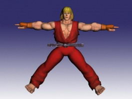 Ken in Street Fighter 3d model