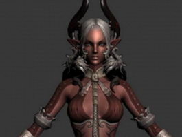 Dark Elf female 3d model