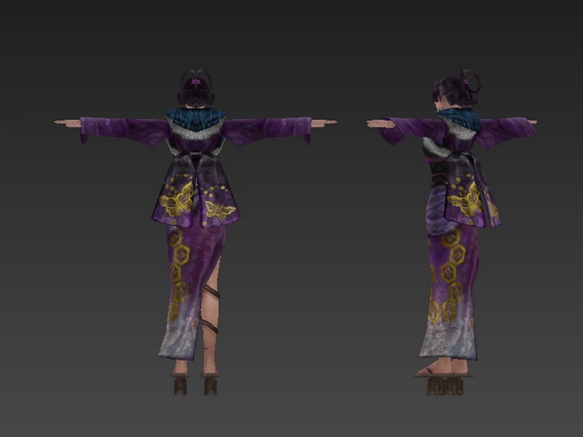 Ancient Chinese girl 3d model 3ds max,Object files free