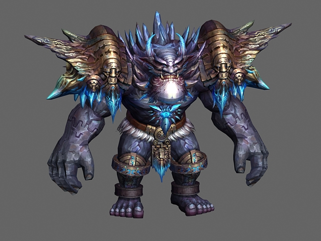 Rock monster 3d model 3ds max object files free download for Monster 3d model