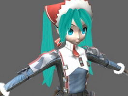 Dream Fighter Miku 3d model
