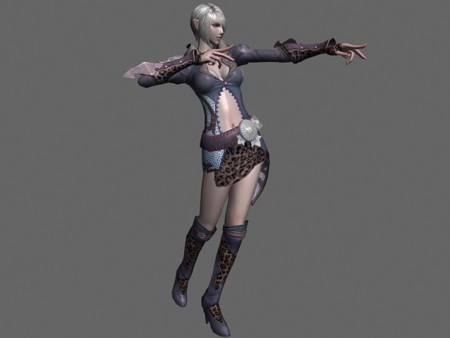 Animated High Elf Female Rigged 3d Model 3ds Max Files
