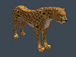 Persian leopard 3d model