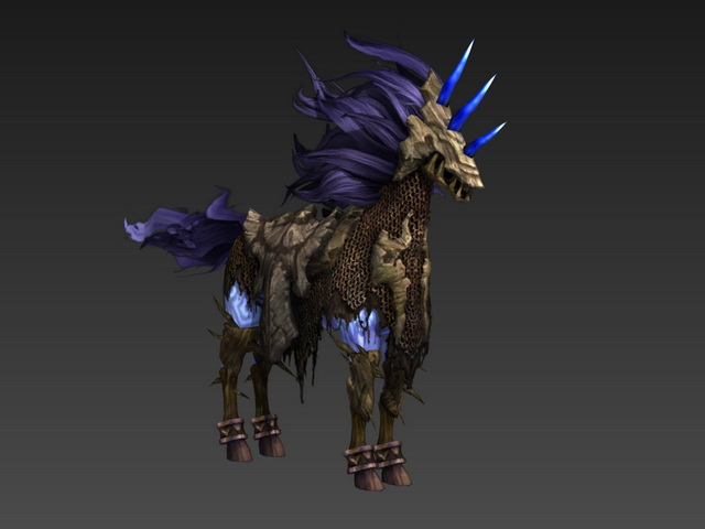 Skeletal Horse 3d Model 3ds Max Object Files Free Download