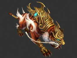 Fantasy tiger warrior 3d model