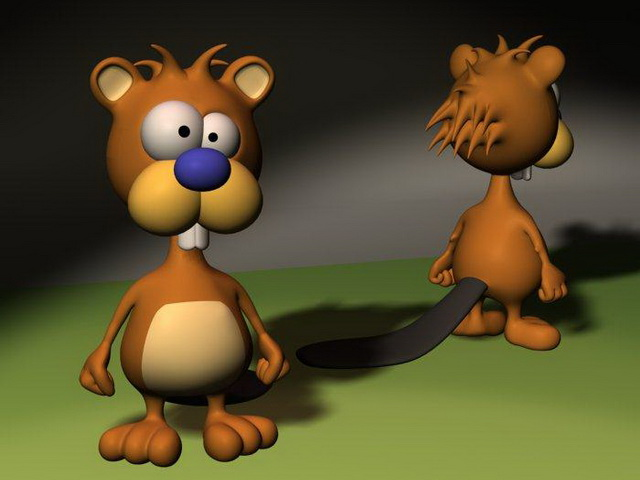 Cute cartoon beaver 3d model 3D Studio,Cinema 4D,Lightwave files