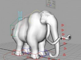 Rigged mammoth 3d model