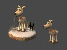 Anime reindeer 3d model