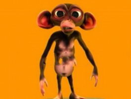 Monkey cartoon 3d model