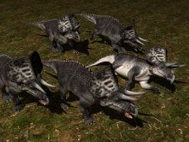 Zuniceratops dinosaur 3d model