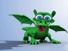 Cartoon dragon rigging 3d model