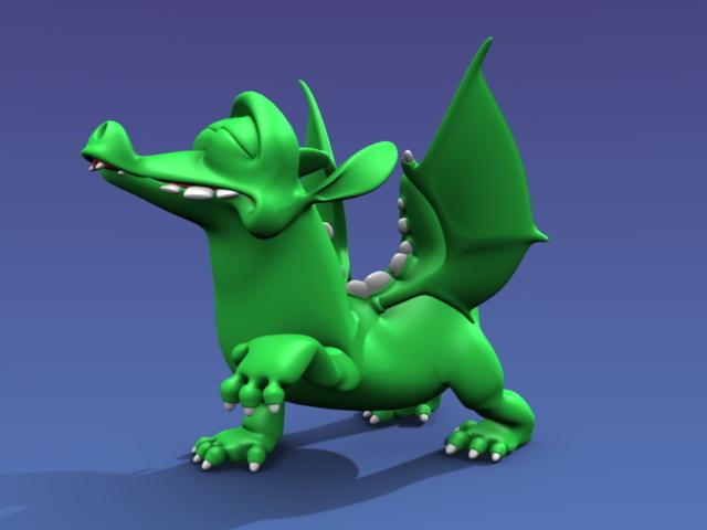 Cartoon dragon rigging 3d model - CadNav