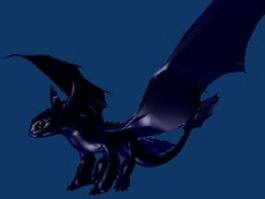 Night fury dragon 3d model