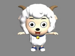 Happy cartoon sheep 3d model