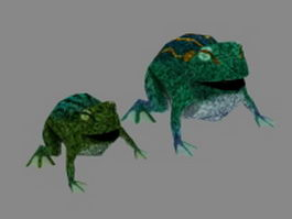 Frog and toad 3d model