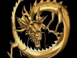 Golden dragon 3d model