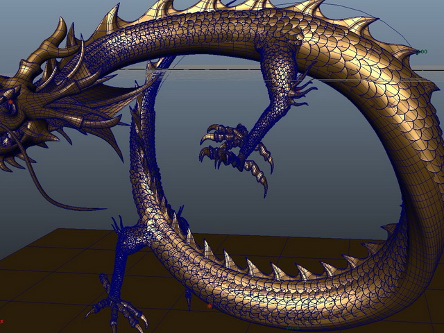 chinese dragon 3d model - photo #35